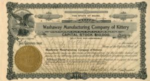 Washaway Manufacturing Company of Kittery
