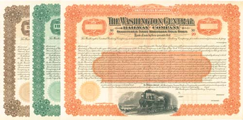 Washington Central Railrway Company - Bond