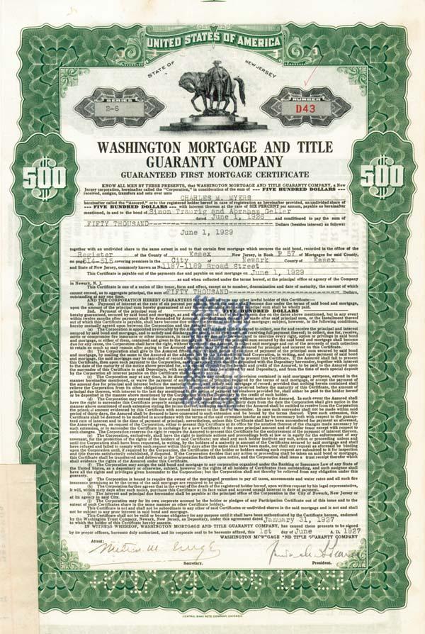 Washington Mortgage & Title Guaranty Company