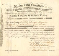 Washoe United Consolidated Gold & Silver Mining Company, Limited