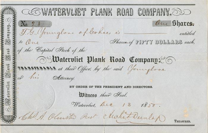 Watervliet Plank Road Company