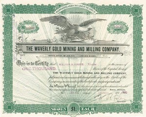 Waverly Gold Mining and Milling Company - SOLD