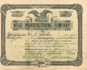 Weld Manufacturing Company