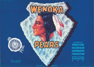 Fruit Crate Label - Wenoka Pears