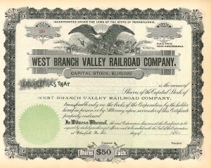 West Branch Valley Railroad Company