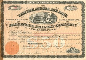 West End, Angora and Park Passenger Railway Company - SOLD