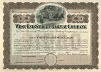 West End Street Railway Company - $1,000