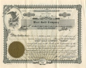 West Gold Company - SOLD