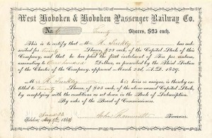 West Hoboken & Hoboken Passenger Railway Co.
