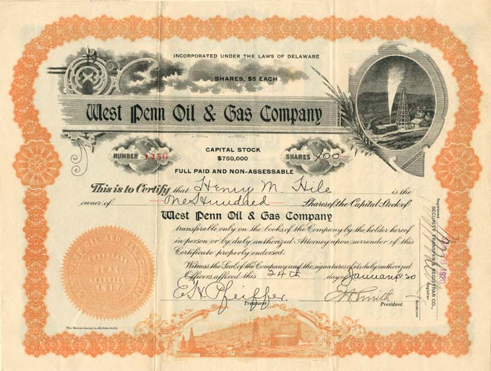 West Penn Oil & Gas Company - SOLD