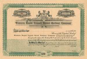 Western Rapid Transit Street Railway Co - SOLD