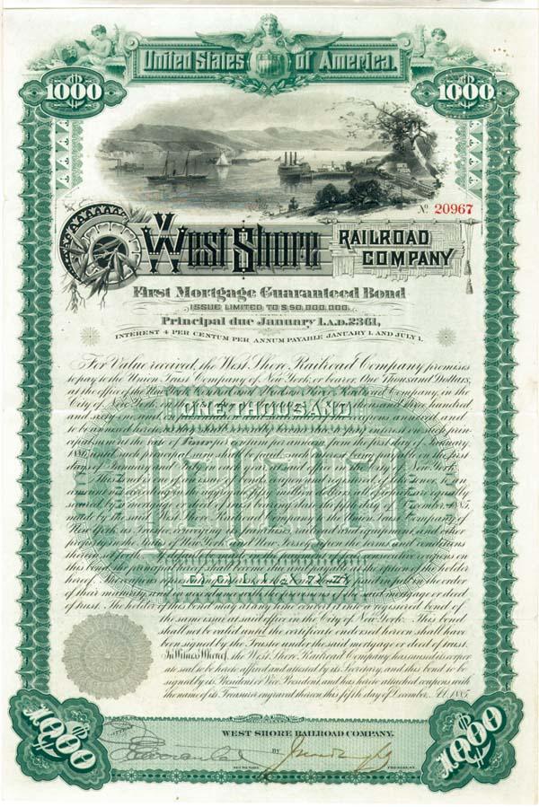 West Shore Railroad - Bond