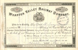 Wharton Valley Railway Company