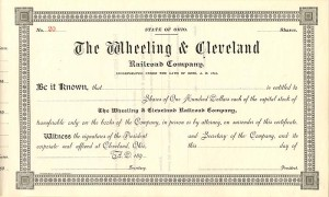 Wheeling & Cleveland Railroad Company - SOLD
