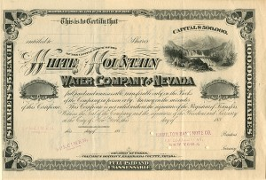 White Mountain Water Company of Nevada
