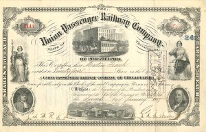 Union Passenger Railway Company signed by Geo. D. Widener