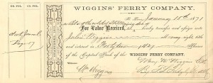 Wiggins' Ferry Company - SOLD