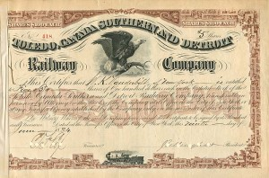 Toldedo, Canada Southern and Detroit Railway Company signed by Wm. K. Vanderbilt