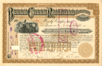 Beech Creek Railroad Company Issued to Wm. K. Vanderbilt