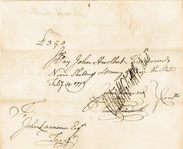 Oliver Wolcott Jr. - Revolutionary War Pay Order - Several Varities Available