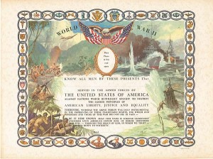World War II Certificate - SOLD