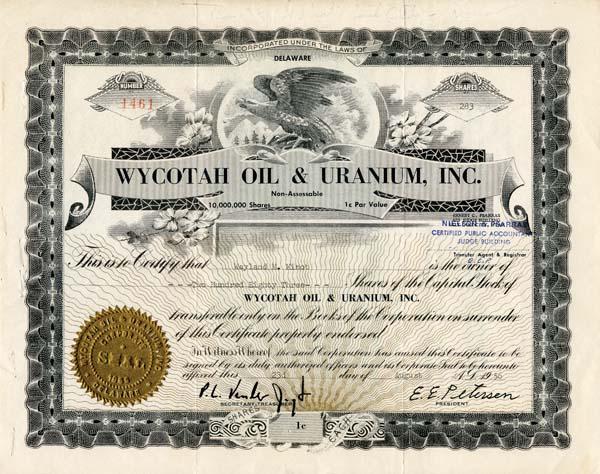 Wycotah Oil & Uranium, Inc.