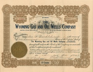 Wyoming Gas and Oil Wells Company -SOLD
