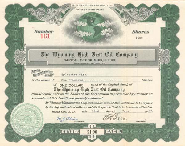 Wyoming High Test Oil Company