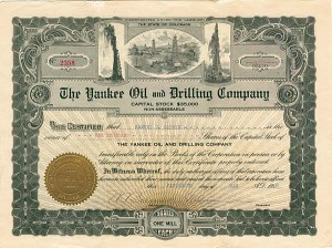 Yankee Oil and Drilling Company - Stock Certificate
