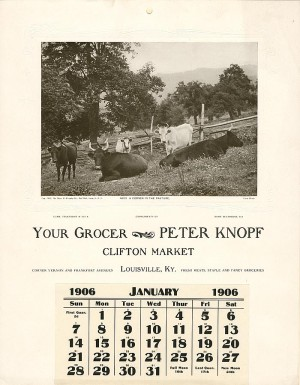 """Your Grocer"" Salesman's Sample Calendar"
